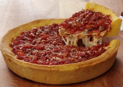 Ginos East Chicago Deep Dish Layered Combo Pizza