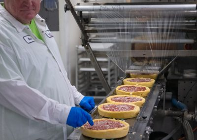 Deep Dish Frozen Pizza Packaging Line